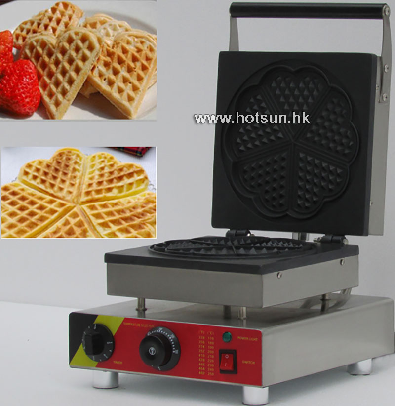Free Shipping Electric 110V 220V Nonstick Commercial Heart-shape Waffle  Maker Iron Mold Plate Machine Baker high tech and fashion electric product shell plastic mold