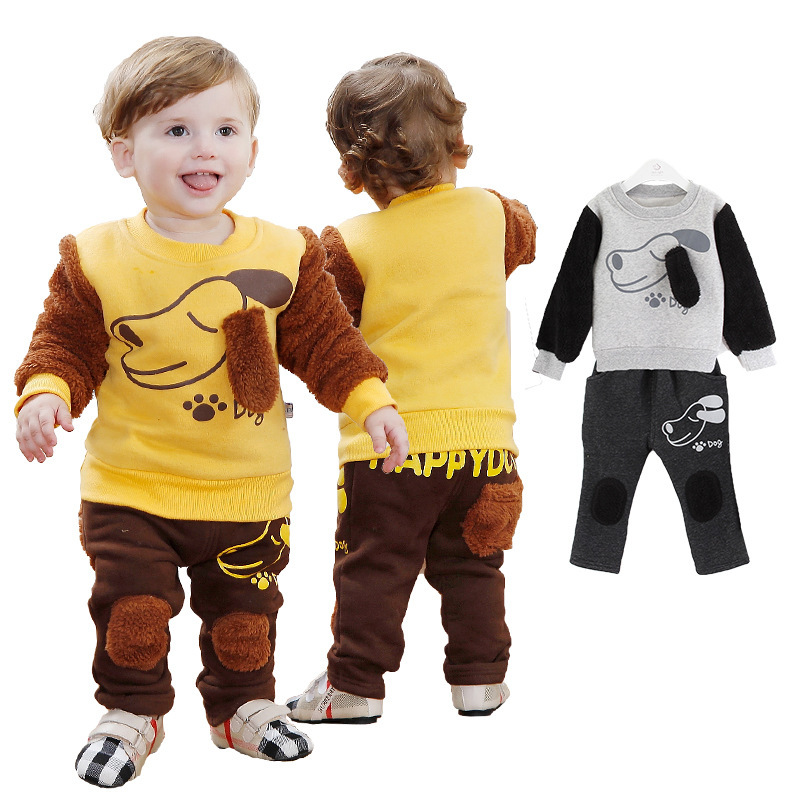 Anlencool 2017 Rushed Real Coat Open Stitch Roupas Meninos Winter Baby Clothing Cotton Flax Puppy Clothes Suit Newborn Wear anlencool 2017 special offer roupas meninos free shipping fall new baby s clothes set sun for suit brand newbron baby clothing