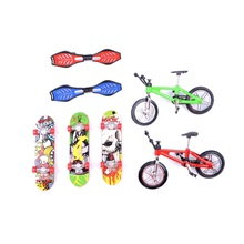 Professional Mini-Finger-Bmx Fingerboard finger skate board scooter finger skateboard and Finger bike Toys for children Bicycle(China)