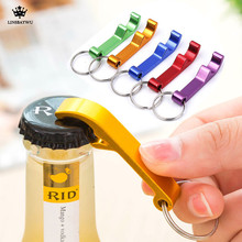 Portable 4 in 1 Bottle Opener Key Ring Chain Keyring Keychain Metal Beer Bar Tool Claw Gift(China)