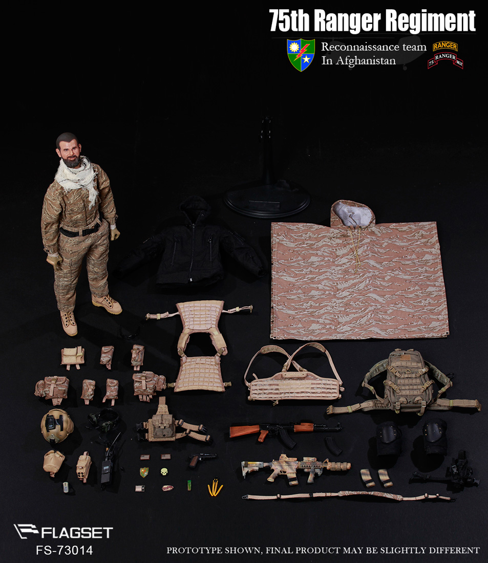 FLAGSET 1:6 scale 73014 75th Ranger Regiment in Afghanistan