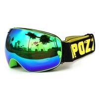 Copozz Skiing Snowboard Goggles Double Lens UV Anti Fog Ski Goggles Fruit Green Green