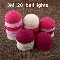 Algodón 20 Bola de navidad LED 3 M Adaptador de Enchufe Luz de la Secuencia Del Banquete de Boda Regalos * Tira Llevada Al Aire Libre *