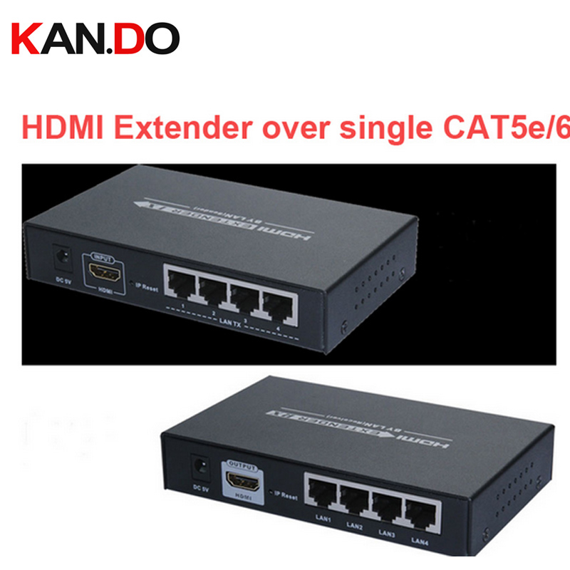 374 HDMI Av Extender Cat5e/cat6 Full HD 1080P Transmitter Receiver 120M HDMI Converter W/ HUB 4-LAN Output Wireless Av Adapter