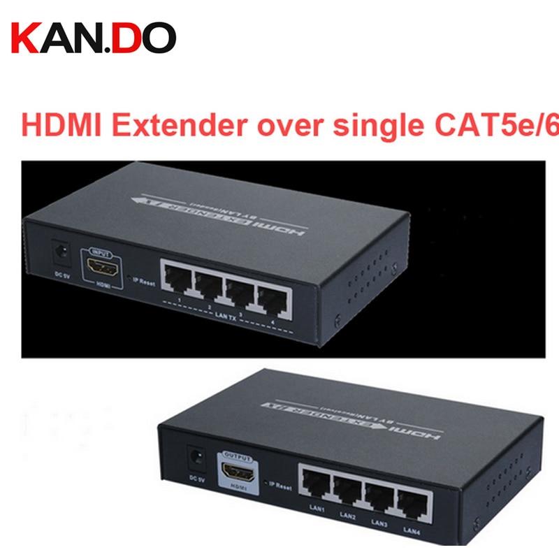 374 HDMI Av Extender Cat5e/cat6 Full HD 1080P Transmitter Receiver 120M HDMI Converter W/ HUB 4-LAN Output Wireless Av Adapter