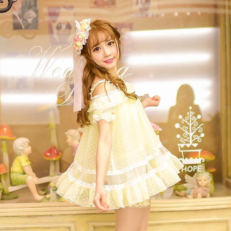 Princesse sweet lolita chemise De Sucrerie pluie design exclusif d'été nouvelles femmes de doux frais sling Bretelles En Mousseline de Soie chemise C16AB6057