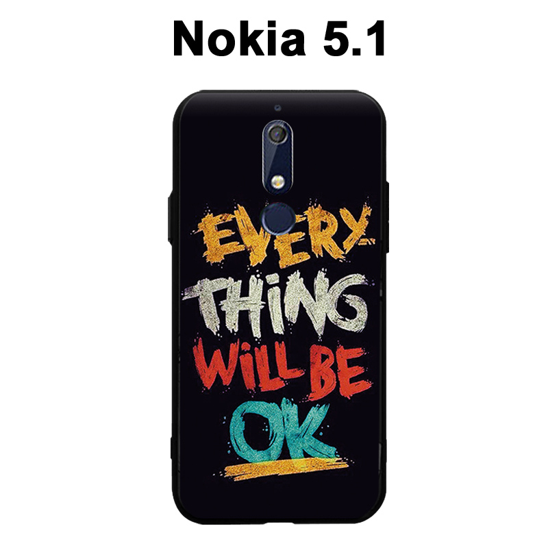 Nokia 5.1 Case 3D Relief Painting Silicone Case Back Cover For Nokia5.1 cover Cartoon Soft Nokia 5.1 phone case