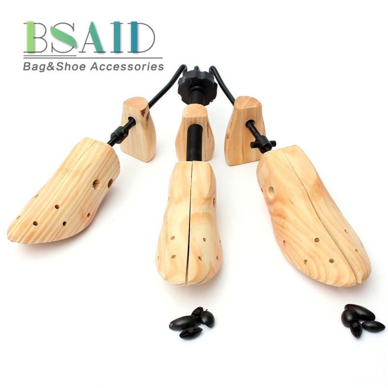 BSAID 1 Piece Shoe Tree Wood Shoes Stretcher, Wooden Adjustable Man Women Flats Pumps Boot Shaper Rack Expander Trees Size S/M/L