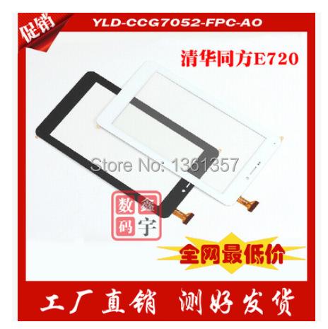 Novo 7 polegada E720 tablet touch screen capacitiva TongFang YLD-CCG7052-FPC-AO A0 frete grátis preto/branco
