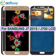 Pantalla lcd J700f para Samsung Galaxy J7 2015, digitalizador de pantalla táctil, reemplazo de botón de inicio, J700, J700F