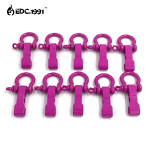 10 PCS O Shape Zinc Alloy Adjustable Anchor Shackle Emergency Rope Survival Paracord Bracelet Buckle for Outdoor Camping EDC