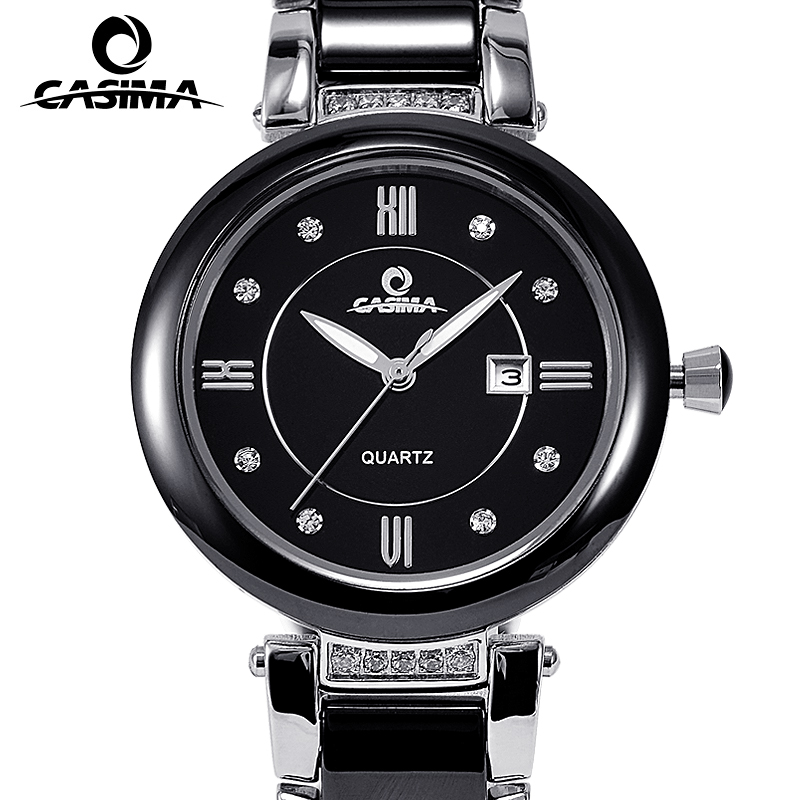 CASIMA Luxury Brand Women Watches Ladies Fashion Elegance Casual Ceramic Table Quartz Wrist Watch Clock Saat Relogio Feminino casima brand women watches waterproof fashion casual rose gold bracelet quartz ladies wrist watch clock saat relogio feminino