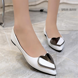 Image 1 - Sharp head flat bean shallow mouth single elegant Ms. shoes spring and autumn 2018 new type of wild womens shoes European style