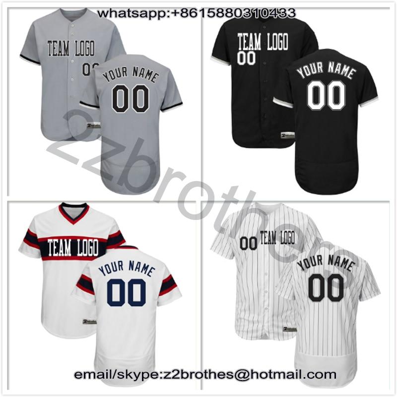 22b4d9065 OEM Custom Baseball Jersey Embroidered Logo Chicago Name Number Men Women  Youth