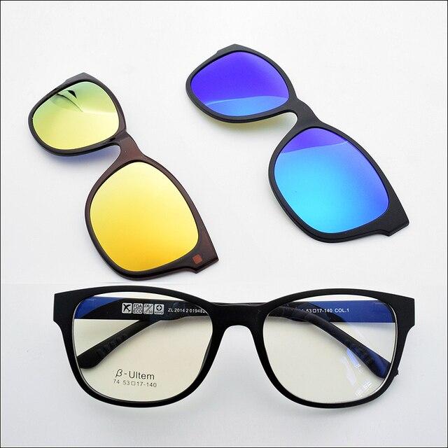 479e933245 Tungsten Tit Glasses Frame Match Magnet Clip Myopia Glasses Polarized  Sunglasses 3D Lens Glasses Night vision