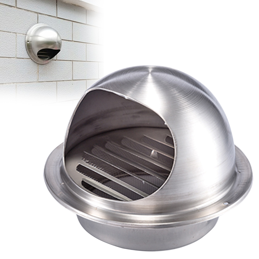 100/120/150/200/250 Mm Stainless Steel Exhaust Hood, Hood External Wall Vent Cap Ventilation Cap Air Ventilation Ventilation Fan