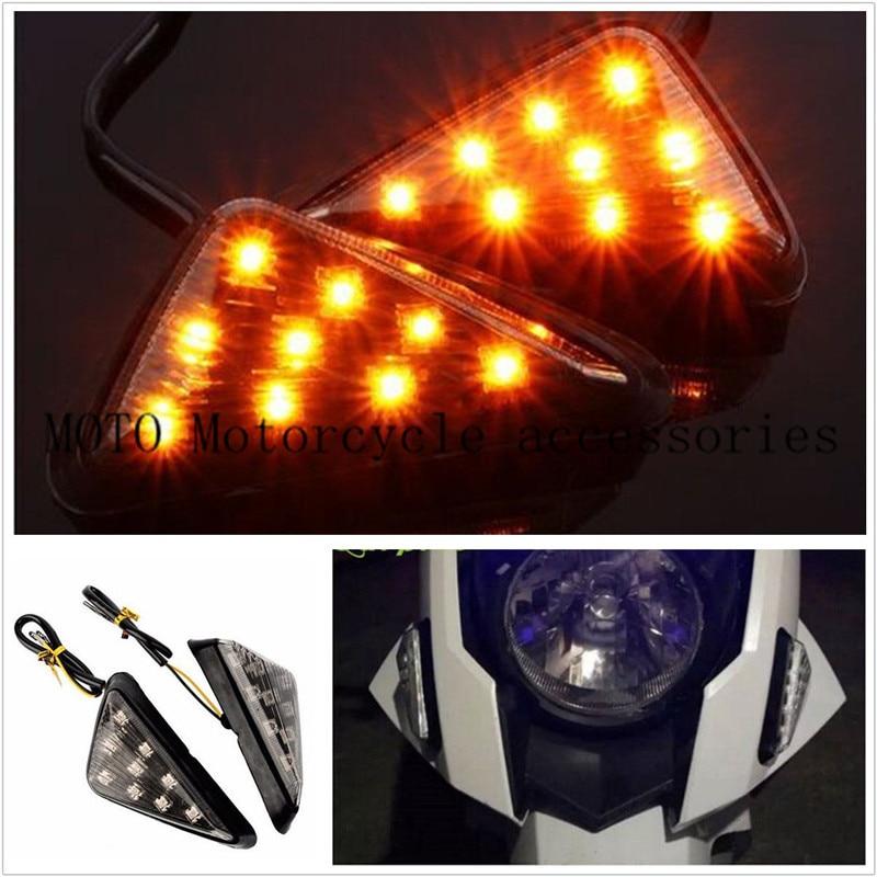 Motor LED Flush Mount Turn Signal Light Lamp Indicator For Yamaha YZF 600R R61 1998-2007 For Suzuki GSX-R 600 750 1000 2001-2005