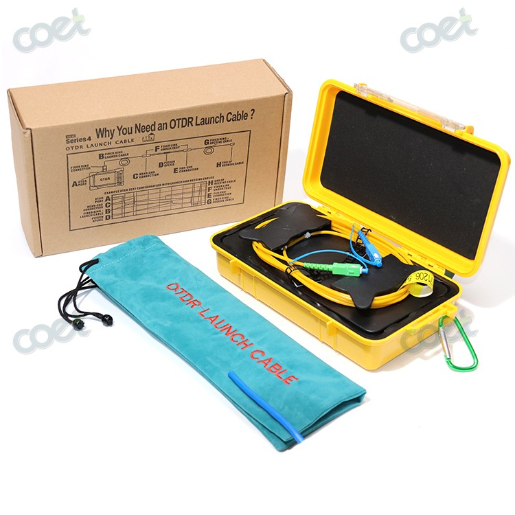 1km SM 1310/1550nm OTDR Dead Zone Eliminator, Fiber Rings ,Fiber Optic OTDR Launch Cable Box