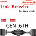 CRESTED strap Voor apple watch band Link armband apple watch 4 3 42mm/38mm iwatch band 44mm 40mm correa pulseira riem gen.6