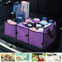 Vehemo Oxford Storage Box Bag Box Durable Foldable Bag Car Trunk Storage Universal Portable