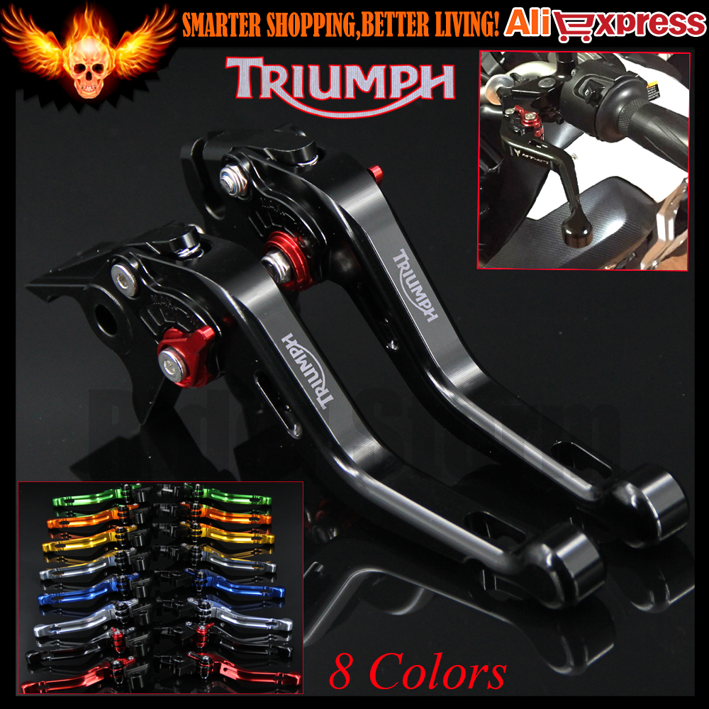 ФОТО New Black 8 Colors CNC Aluminum Motorcycle Short Brake Clutch Levers For Triumph DAYTONA 600/650 2004 2005