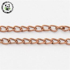 Image 5 - 100 m/rolle 3x 1,6mm Gold Rotguss Antike Bronze Rot Kupfer Silber Farbe Twist Eisen Halskette Kette für schmuck Machen Kommen Auf Reel