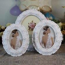 white resin Photo frame pendulum resin frame creative European minimalist studio wedding photo frame