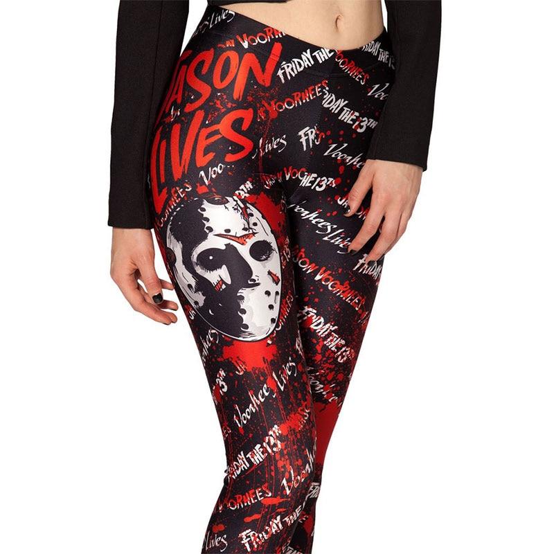 Fashion Ladies Women Skull Legging Woman Jeggings Legings Fitness Legging Pant Pants Printed Leggings