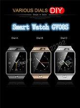 2015 neue Bluetooth Smartwatch GV08S Smart Uhr Unterstützung SIM TF SMS MP3 für apple Xiaomi Huawei MEIZU HTC LG Android 3 Farbe