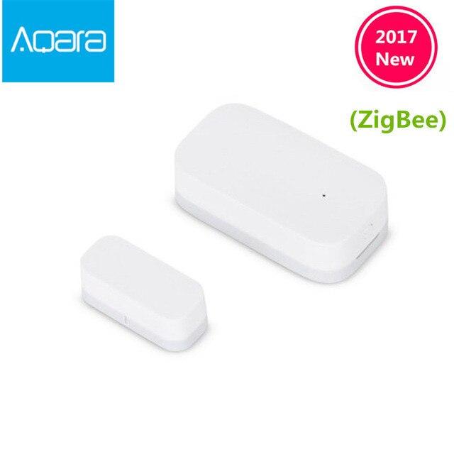 Nuevo Sensor de ventana de puerta Xiaomi Aqara actualizado Zigbee conexión inalámbrica Mini sensor de puerta inteligente funciona con Android IOS App control