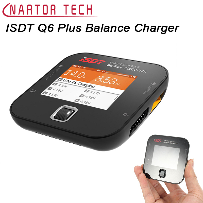 New Hot Sale Original ISDT Q6 Plus 300W 14A MINI For Pocket Battery Balance Charger For RC Parts