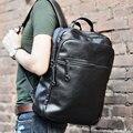 NEW School imitation Leather Backpack Vintage Men Backpack Male Black Day Back Pack Leisure Fashion Backpacks student bag men