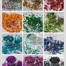 12 голографический круг диско Точка Форма Блестки блестка для украшения ногтей и других художественных поделок Размер: 3 мм