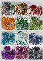12 Círculo Disco holográfico Punto paillette lentejuelas forma para la decoración de uñas y el otro arte DIY decora Tamaño: 3 MM