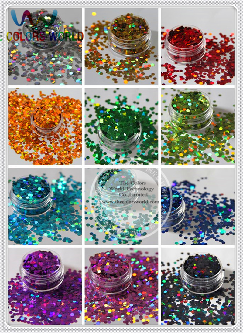 12 holographic Circle Disco Dot shape sequins paillette for nail decoration and other art DIY decora Size : 3MM 3d 12 candy colors glass fragments shape nail art sequins decals diy beauty salon tip free shipping