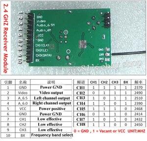 Image 4 - 600M 2.4G kablosuz görüntü Video AV verici Stereo modülü/AV alıcı modülü için VCD DVD DVB güvenlik hoparlör