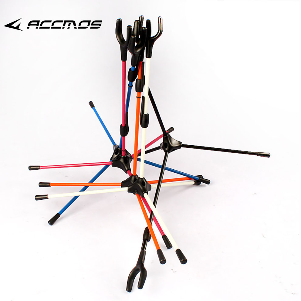 Archery Bow Stand Recurve Bows Holder 5colors Assemble Hanger for Recurve Bow Stander for archery Hunting Outdoor Sports image