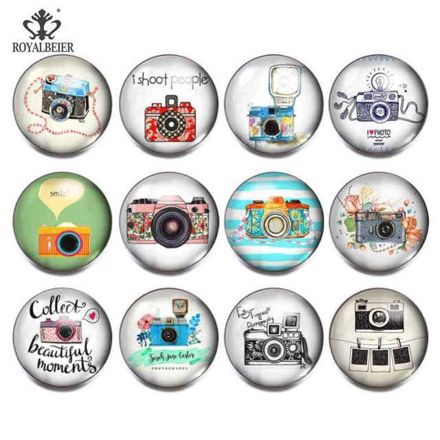 18mm Snap Button Charms Cameras  1