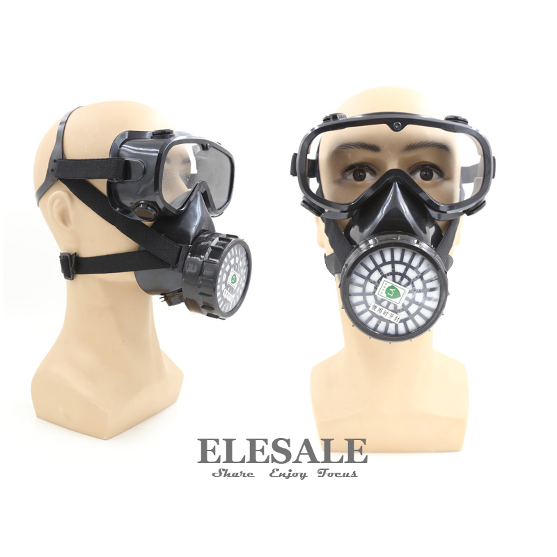 New Respirator Gas Mask With Safety Glasses For Painting Chemical Gas Organic Vapour Filters Safety Face Respirtor 3m 6300 6003 half facepiece reusable respirator organic mask acid face mask organic vapor acid gas respirator lt091