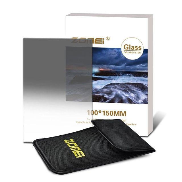 ZOMEI 150 100mm Filtro de cámara de vidrio óptico de importación cuadrado de densidad neutra suave Gradual ND2 4 8 0,3 0,6 0,9 filtro para Cokin Z