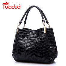 Bolsas Femininas Hot Sale Brand Women Single Shoulder High Grade PU Leather Crocodile Pattern Bags Bolsas Casual Tote Handbags