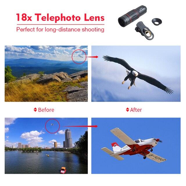 APEXEL Telefon Camera Lens universal 18X Telescope Zoom telescope  Mobile Phone Lens for iPhone Xiaomi Smartphones  APL-18XT 3