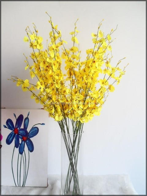 Special clearance simulation flower silk flower artificial flower special clearance simulation flower silk flower artificial flower wholesale oncidium orchid yellow butterfly orchid shenandoah mightylinksfo