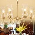 Роскошные медные люстры осветительные лампы Avize Lustres Lampadari домашнее осветительное приспособление Deco lustres para quarto Glass CopperLight