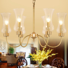 American country full copper chandelier lamp crystal European air living room bedroom retro restaurant 05