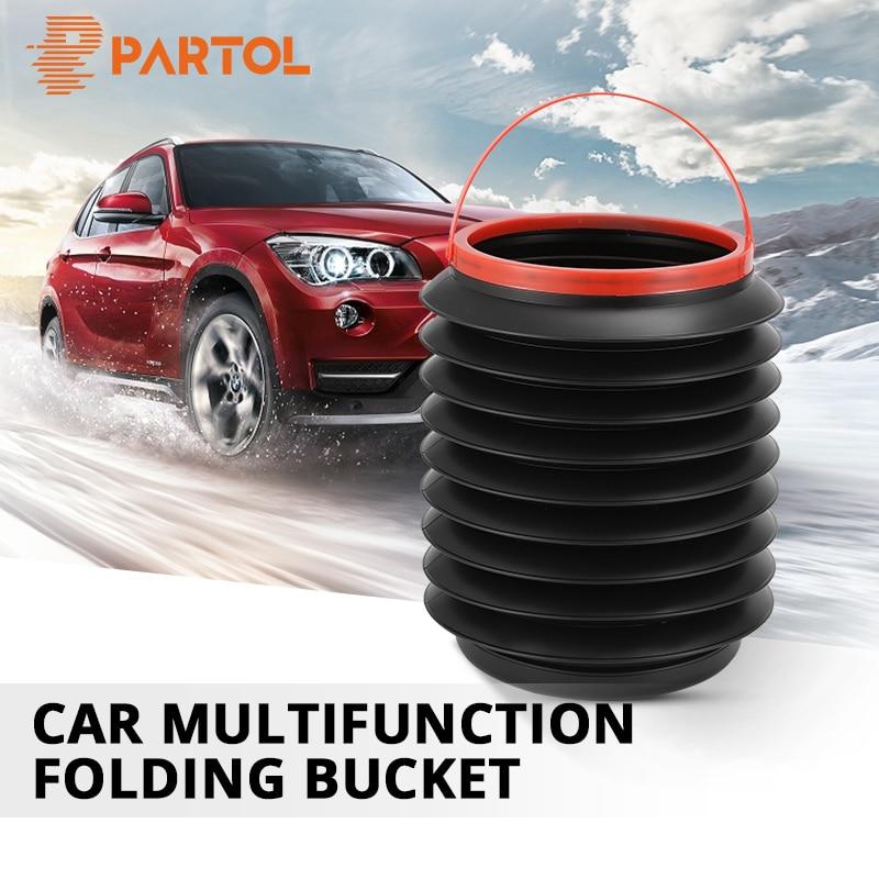 Partol Car Wash Bucket 4L Portable Folding Bucket A