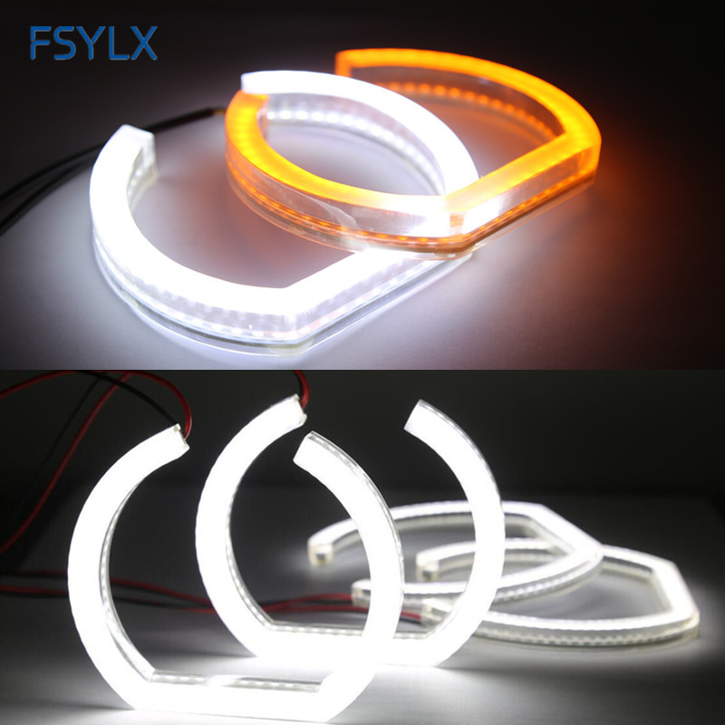 FSYLX Crystal SMD LED Angel eyes For BMW F30 F35 LED DRL daytime running light turn signal light Car F30 F35 SMD LED halo rings hid white 15 smd pw24w pwy24w led bulbs for audi bmw vw turn signal or drl light