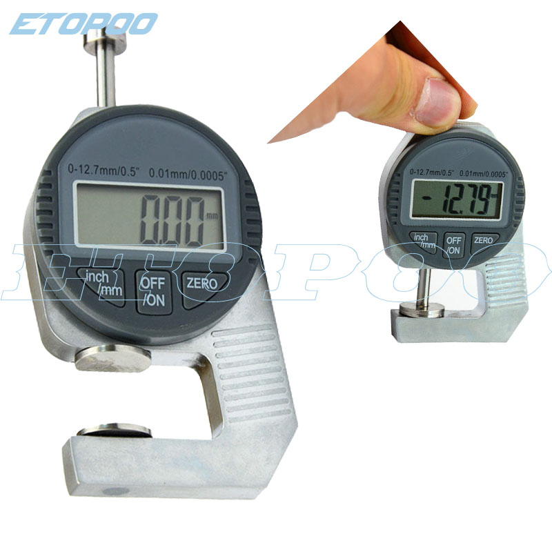 Mini Portable Precise Digital Thickness Gauge Meter Tester 0 to12.7m Caliper