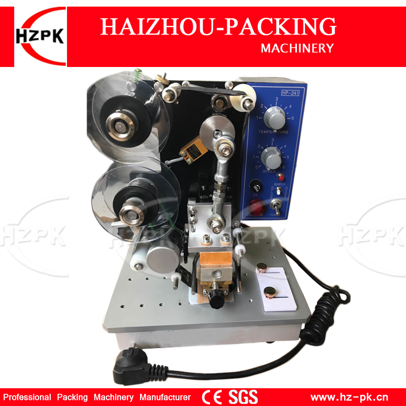 цена HZPK Electric Hot Ribbon Label Printing Machine Numbers Print Machine Plastic Film/Plastic Bag Date Printing With A Ribbon Free онлайн в 2017 году