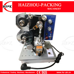 """HZPK elektryczny gorący wstążka maszyna do drukowania etykiet zielony przycisk """" pokaż dane kontaktowe maszyna do drukowania folii z tworzywa sztucznego/plastikowa torba drukowania daty z wstążka darmowa"""